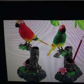 仿真聲控鸚鵡錄音鳥