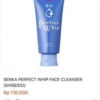 Senka Perfect Whip Shiseido Face Wash Jepang