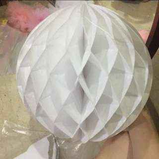 3 x Lantern honeycomb ball paper