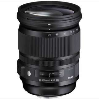 Sigma 24-105mm f/4 DG OS HSM Art Lens for Canon and Nikon