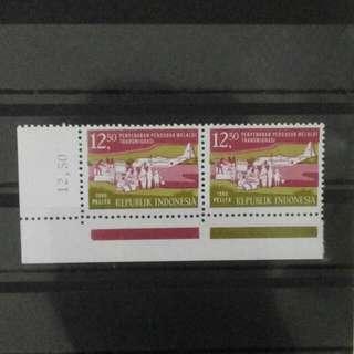 2 Blok Perangko Pelita 1980