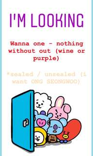 WANNA ONE ALBUM (NOTHING WITHOUT YOU)