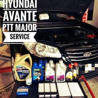 Hyundai Avante: PTT Performa x4 times service package membership