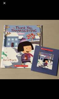 Scholastic Thank You, Thanksgiving CD + Book (By David Milgrim)