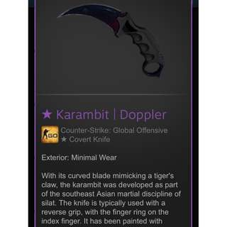 Karambit Doppler Phase 1