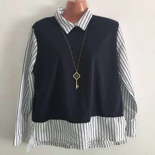 Free mail blouse long sleeves