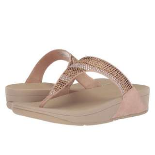 FitFlop Strobe Luxe Toe-Thong Sandals | Gold | US Women's Size 5,6,7,8,9,10,11 | Flip Flop Sandal Slipper shoe