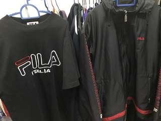 Fila combo (windbreaker and tshirt