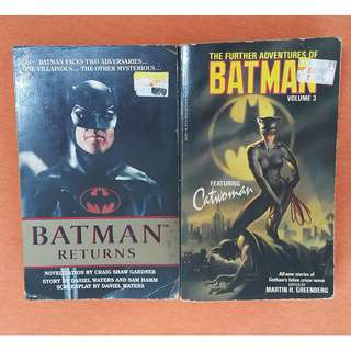 Two books- Batman Returns + The Further Adventures of Batman USED