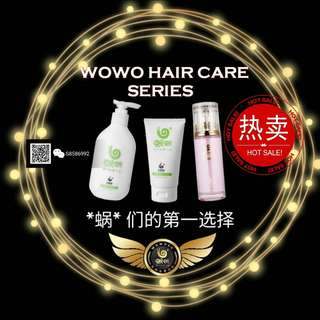 WOWO SHAMPOO, HAIR MASKS, ESSENTIAL OIL WITH QR CODE