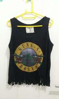 Gun N' Roses Fringe Top