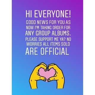 PRE ORDER ANY KPOP GROUPS ALBUM