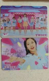 Yes card twice簽名 1set 6張