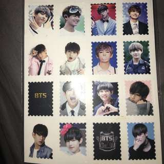 KPOP BTS- V sticker sheet