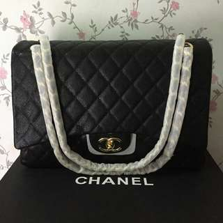 CHANEL 34CM MAXI FLAP COMPLETE WITH BOX