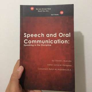 Speech and Oral Communication book