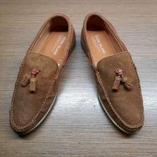 Men's Brown Suede Tassle Loafers