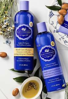 Hask Shampoo & Conditioner: Blue Chamomile & Argan Oil