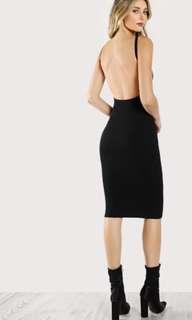 (美國官方賣USD19.99) Sexy Low Back Black Dress