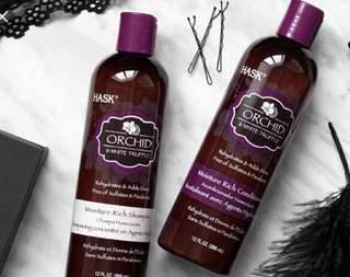 Hask Shampoo & Conditioner: Orchid & White Truffle