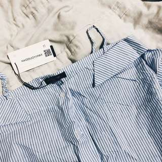 bnwt stripe off shoulder