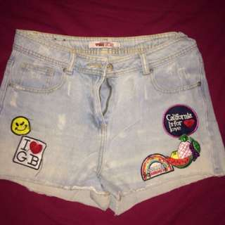 New look high waisted short pants