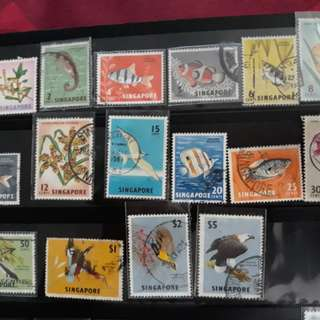1962 used stamp set