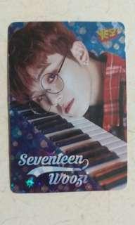 Seventeen yes Card閃卡 woozi dino