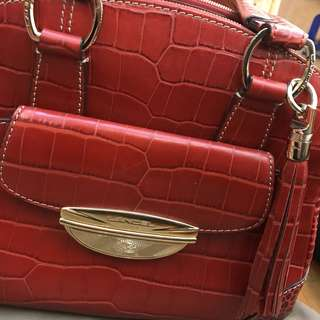 屋企無位急放📣🈹99% new Lancel Adjani handbag (red)