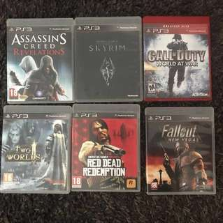 PS3 Games bundle 5 games $30