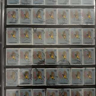 49pcs Used stamps ( $2 1962)