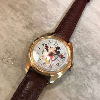 Mickey Mouse vintage mechanic watch 米奇老鼠 機械上鍊手錶