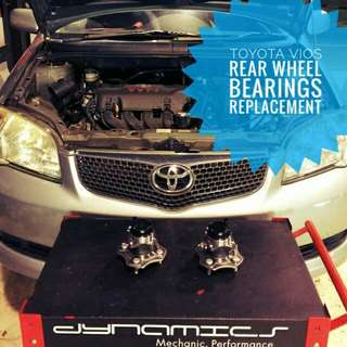Toyota Vios NCP42 : Rear_Wheel_Bearings Replacement