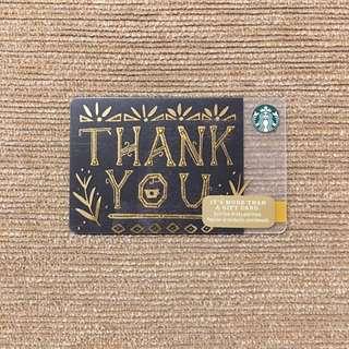 Thank you Starbucks card
