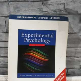 Experimental Psychology 6th Edition