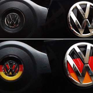 "VW Emblem ""Motif"" for Steering Wheel, Front or Rear Emblem"