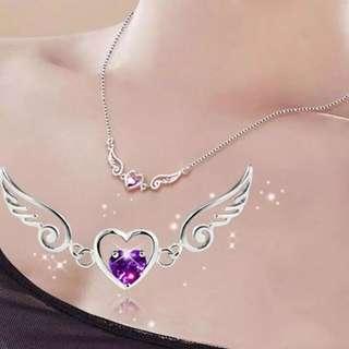 Angel Love Wings Heart Necklace