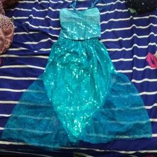 Blue mermaid dress for kids