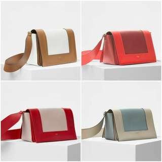 Celine Medium Frame Bag In Shiny Smooth Calfskin
