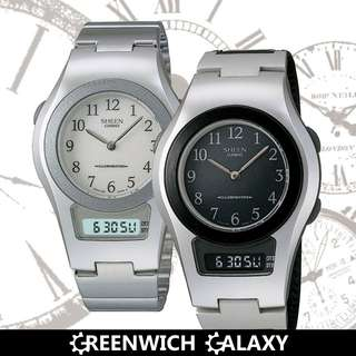 Casio Sheen Ana-Digi Dual Time Classic Watch (SHN-100 Series)