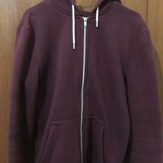 H&M Hooded Jacket - Burgundy