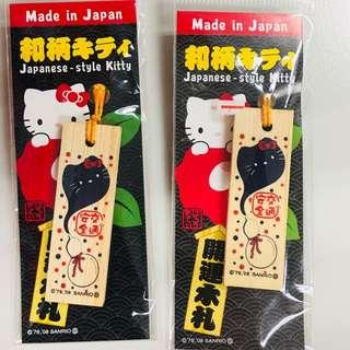 🚚 東京淺草 日本限定日本製hello kitty 交通安全吊飾