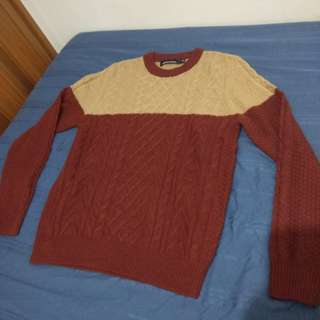 Sweater rajut lengan panjang merah coklat Samuel&Kevin SizeM