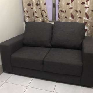 2 seater sofa and large ottoman