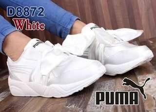 Sepatu kets puma bow putih