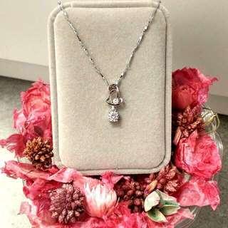 心心相印經典閃亮鑽飾吊墜頸鏈 Heart-Shaped Classic Shiny Diamond Pendant Necklace