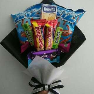 Bouquet snack & Box flower