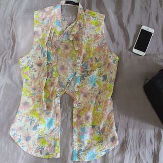 FLORAL SUMMER TOP (with back detail)