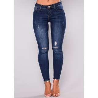 Kimberly Ankle Jeans - Dark Denim