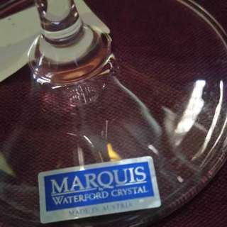 Marquis Waterford Crystal Wine glass {勢夠發$49.80fixed price} Worldwide famous brand Supreme & high quality product wholeheartedly Made in Austria with top level handicrafts ! 100%new & in good condition without any damages ! (only one glass for selling)